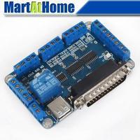 5 axis CNC Breakout Board interface board Card USB MACH3/EMC2/KCAM4 for CNC Milling Machine #SM379 @SD