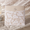 Lace Floral Wedding Invitation in White (Set of 50) Printable and Customizable Wholesale Free Shipping