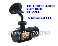 Car DVR Camera Car Black Box HD720P IR night vision vehicle DVR car camera Free Shipping
