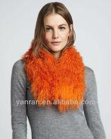 Hot sale Real mongolia fur muffler YR-448B many colors ~wholesales~retail