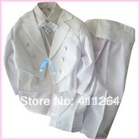 4sets/lot(0-12Y) Wholesale children tuxedo sets, formal suits, Wedding Formal Party Recital Easter 6-pcs set for boys