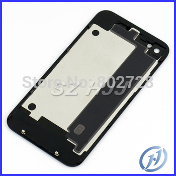 For iPhone 4 4G Glass Back Cover Housing With Chrome Ring and Flash Diffuser White and Black ONLY for GSM AT&T 100pcs/lot
