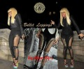 New Arrival~Wholesale Fishnet Lace Bullet Beaded Embellished Leggings, Black Yarn Bullet Paneled Leggings,
