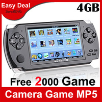 "4.3"" TFT LCD Game Console With 4GB MP5 Player Built-in 2500 Games Voice Recorder Camera TV-Out Handheld Game Player"