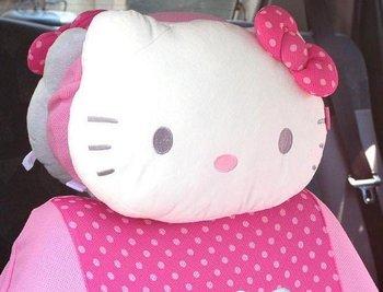 hello kitty car head pillow neck sponge pillow headrest back cushion free shipping