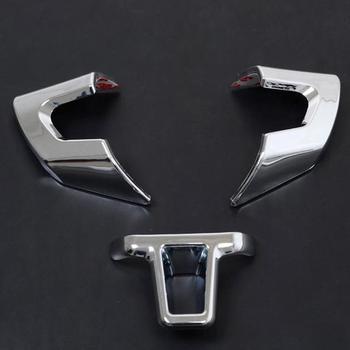 Chrome Steering Wheel Trim 3pcs fit for VW Golf 6 MK6 2010-2012 Polo 2011-2012 Jetta 2011-2012