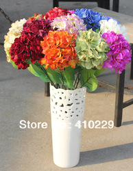 Free Shipping 29Colors Silk Hydrangea Flower with Stem, Wedding & Home Decoration 10PCS/LOT AF059(China (Mainland))