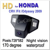 CCD Car camera170 degree for Honda CRV/Fit/Odyssey 2009 Waterproof Shockproof Night version Size:69*49*47.5mm Drop Shipping