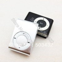 Cheap 50pcs metal clip MP3 mini clip mp3 player with TF slot only MP3 8 colors Free shipping by DHL