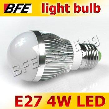 4pcs/Lot E27 3 LED 4W Warm/Cold White Bubble Ball Globe Light Bulbs Bright
