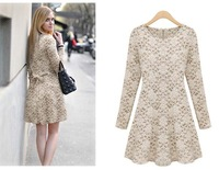 Elegant Lace long sleeve dress/1 piece Free shipping/LY0506