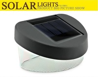 Solar LED fence light,solar panel garden wall light 2 led bright Stairway lawn lamp 6pcs/lot Freeshipping