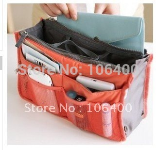 Lady's organizer bag multi functional cosmetic storage handbag women bags women bag in bag