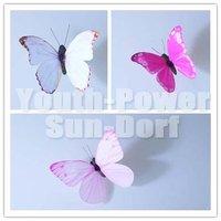 12pieces 3D Wall Sticker Butterfly Home Art Decorations Butterflies fridge Magnet Stickers girls room Baby Nursery Pink-Serie