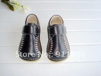 Discount Pirce  Brown Black Baby Boy Squeaky Shoes
