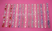Free shipping Wholesale mixed 5 colors rhinestone sticker(5pcs/Lot) 022003001