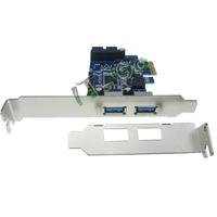 Free shipping 2 external USB3.0 port and 1 internal19pin USB header PCIe Card ,pci express