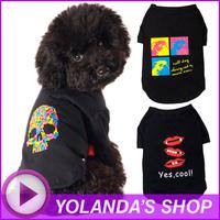 "FREE SHIPPING ""mata vern"" Fashion Pet T-Shirt  Hot sale designer dog clothes  SIZE XXL"