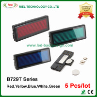 LED Name Badge Sign Scrolling Display Board Free shipping,B729T Series: 5pcs/lot,(red,yellow,blue,white,green colour),