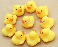 UPS EMS DHL Free shipping 2000pcs/lot Wholesale 4.2*4*3.5cm Mini Yellow Hong Kong Rubber duck Pvc bath toy sound Floating Duck