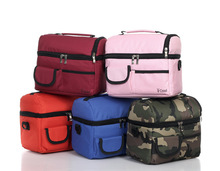 picnic lunch bag insulated cooler bag two compartments lunch box(China (Mainland))