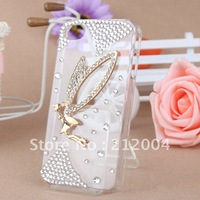 Free shipping! HOT SALE HANDMADE RHINESTONE PHONE CASE FOR APPLE IPHONE 5