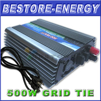 FreeShipping, DC22-60V 500W On Grid Inverter for Solar PV System, Output AC90~140V or AC180~260V PV Gird Tie Inverter 6 pcs/lot