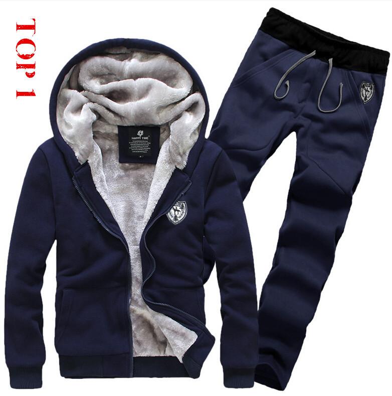 2013 Spring winter Free shipping comfort single copper metal zipper design Men's suit Fleece sweater pants hoodies sport set.