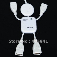 20pcs/lot  Wholesale New Doll Shape 4 Ports High Speed USB 2.0 Hub