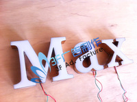 Super beautiful rose gold resin led letter signs/Outdoor advertising/Indoor decoration