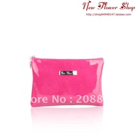 Pink Color Lady cosmetic bag,small storage bag,clutch bag for lady