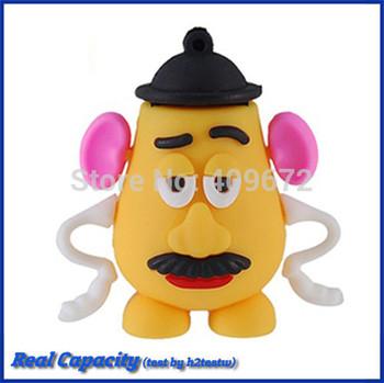 Retail genuine 2G/4G/8G/16G/32G usb flash drive memory cartoon pendrive toy story Mr Potato Head Drop pen drive Free shipping