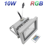 Free shipping 10W RGB IP65 85-265V  High Power Waterproof  Floodlight LED Projection for Outdoor