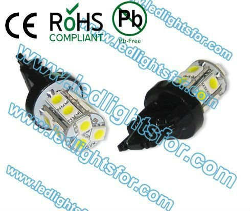 4pcs/lot super quality freeshipping 13 smd5050, 3157 led car lights,t25 tail lights,3157 car lamp(China (Mainland))