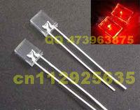 1000PCS 20mA Dip 2*5*7 rectangular LED/Square LED diodes RED through hole led