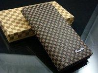 long pocket checkered men's wallet