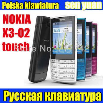 Nokia X3-02 Unlocked Original Nokia X3 3G WIFI Touch screen Mobile Phone Russia keyboard Fast shiping