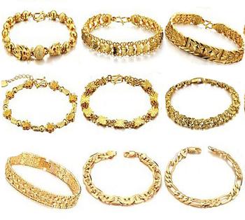 OPK WEDDING JEWELRY 10pcs/lot 18K Real Gold Plated Bracelet Bridal Cuff Bangle Women Mixed Order Free Shipping