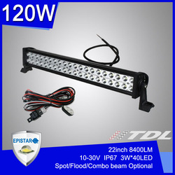 "Factory Sale 22"" inch 120W Offroad LED Bar Working Light Waterproof 120 Watt LED Off Road Light Work lamp Spot Flood Combo Beam(China (Mainland))"