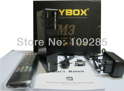 Skybox M3 1080pi Full HD PVR FTA Satellite Receiver Support USB Wifi + free Adapter(China (Mainland))
