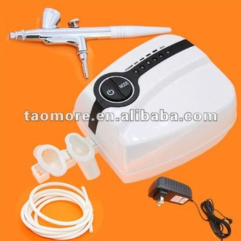 Free shipping Portable Makeup Airbrush Mini Air Compressor 5 Speed with Spray Gun Airbrush tattoo 24 hours Working