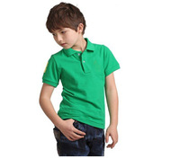 kids t shirt polo t shirt sport t shirt for boys and girls,pure color Nets cotton t-shirt wholesale 4size*13colors in stock
