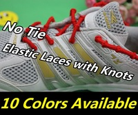 New Arrival~200pair/lot,Triathlon Elastic Laces with Knots, No Tie Elastic Shoelaces,  Knot Elastic ShoeLaces(DHL FREE SHIPPING)