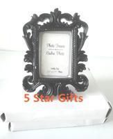 Black Baroque photo frame 80PCS/LOT wedding place card holder/picture frame