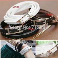 New Style Fashion Belt Buckle Style Leather Bracelet(10 pcs/lot)~free shipping#8600