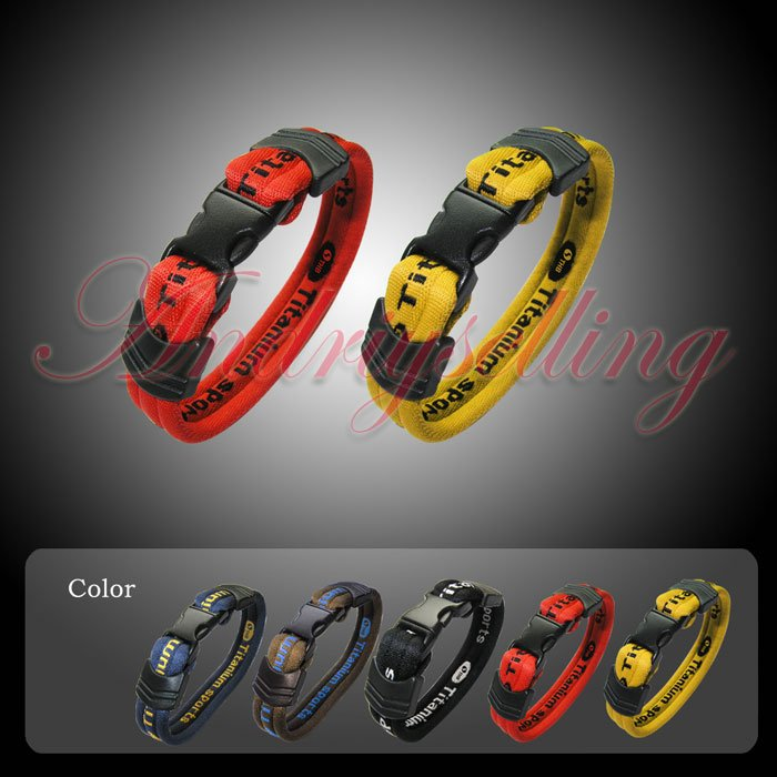 Hot selling!Popular! Germanium Titanium Ionic Sports Energy Bracelet for Golf Baseball Basketball Exercise Health 20cm 5 colors(China (Mainland))