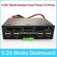 """Hot 5.25"""" HUB USB Dashboard eSata SATA Media Front Panel Card Reader /wholesale/Free shipping !!!"""