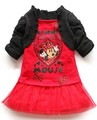 Good quality! Free ship,Wholesale Fashion Children's tutu dress baby girls cotton Minnie design dress girls princess(5pcs/lot)