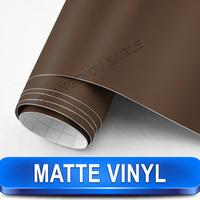 Coffee Brown Matte Vinyl Film Wrap Car Sticker 1.52x30m Bubble Free Best For Car Styling