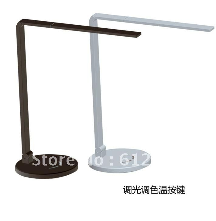 folded L-shaped adjustable light color aluminum heat lamp, aluminum arm, led table lamp eye protection desk LED lamp DR00018-Z3(China (Mainland))